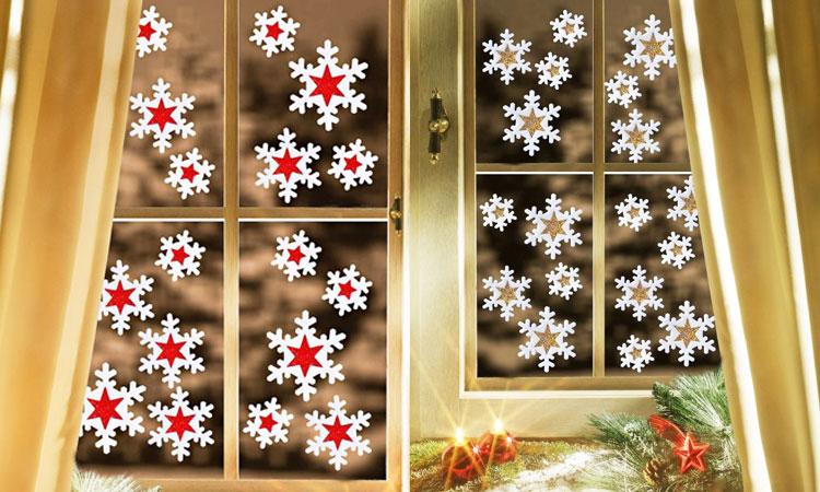 Как украсить окна к Новому году снежинками своими руками