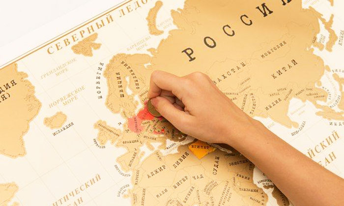Оригинальный подарок мужу на 23 февраля - скретч-карта