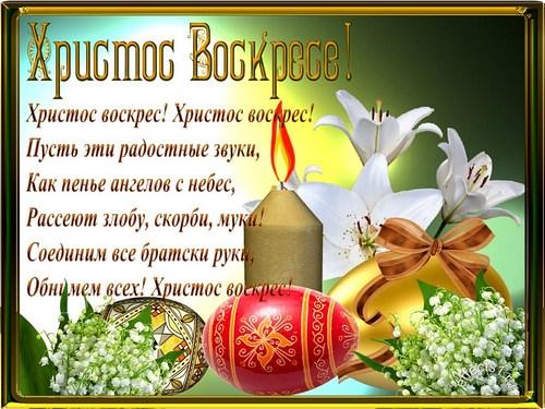 Поздравления открыткой Христос Воскресе