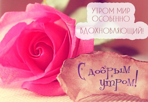С добрым утром открытка женщине с красивыми словами