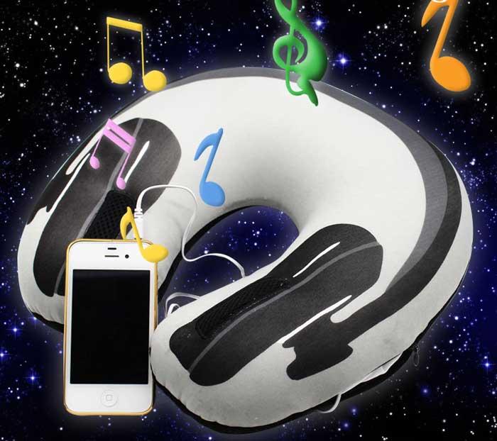 Музыкальная подушка-подголовник