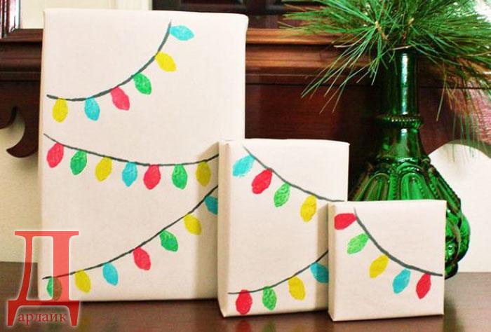Как упаковать подарок на Новый год своими руками