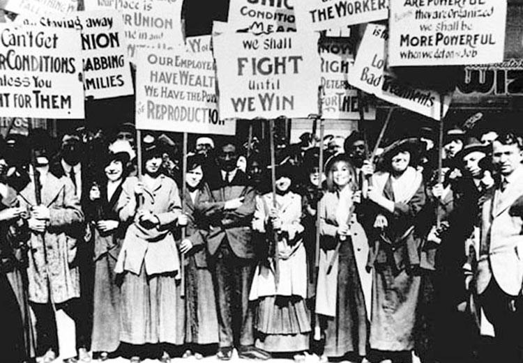 Забастовка женщин в Нью-Йорке 1857 год