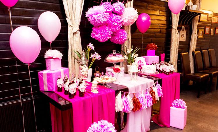День рождения в розовом стиле