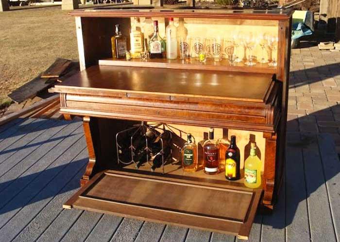 Мини-бар в виде фортепиано