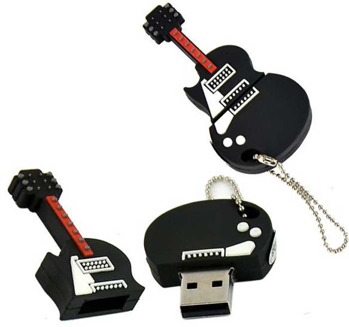 Флеш-карта в виде гитары